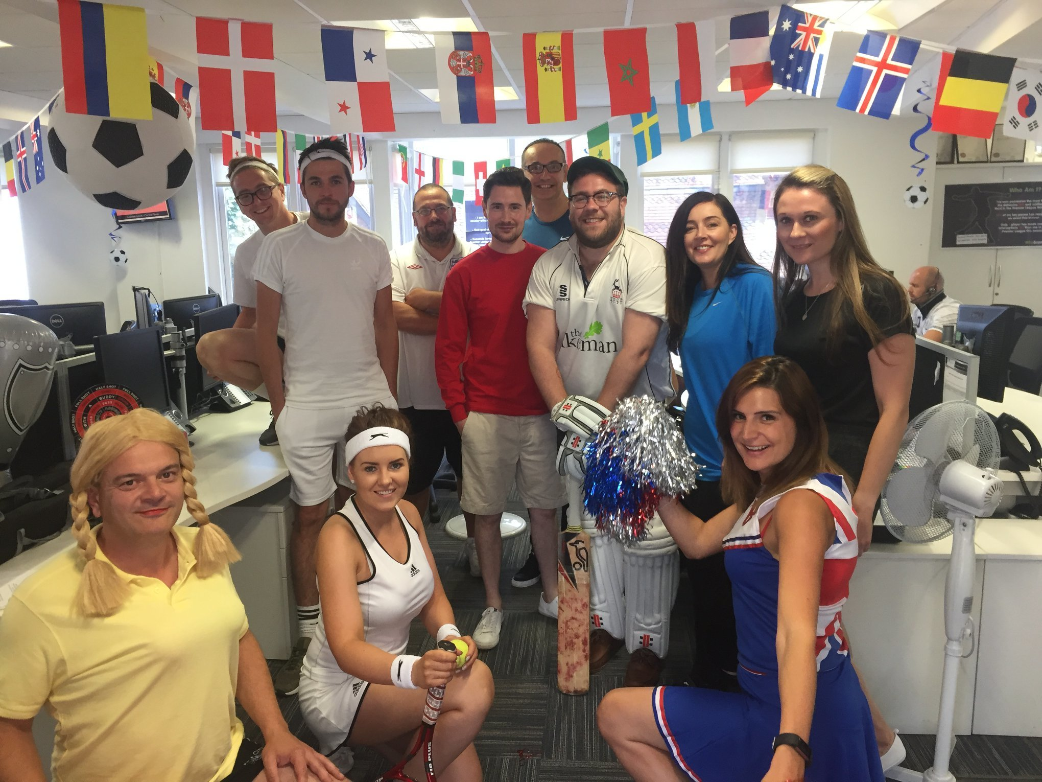 InterQuest Group colleagues dressed up in their office for the Olympics