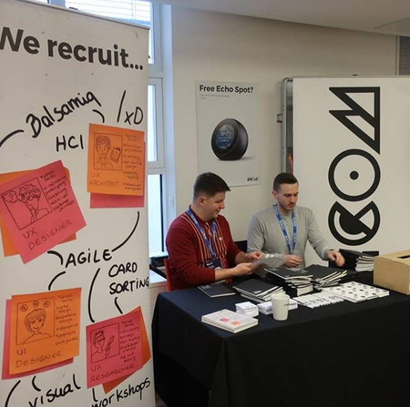 ECOM exhibiting at UXey, an event for UX professionals