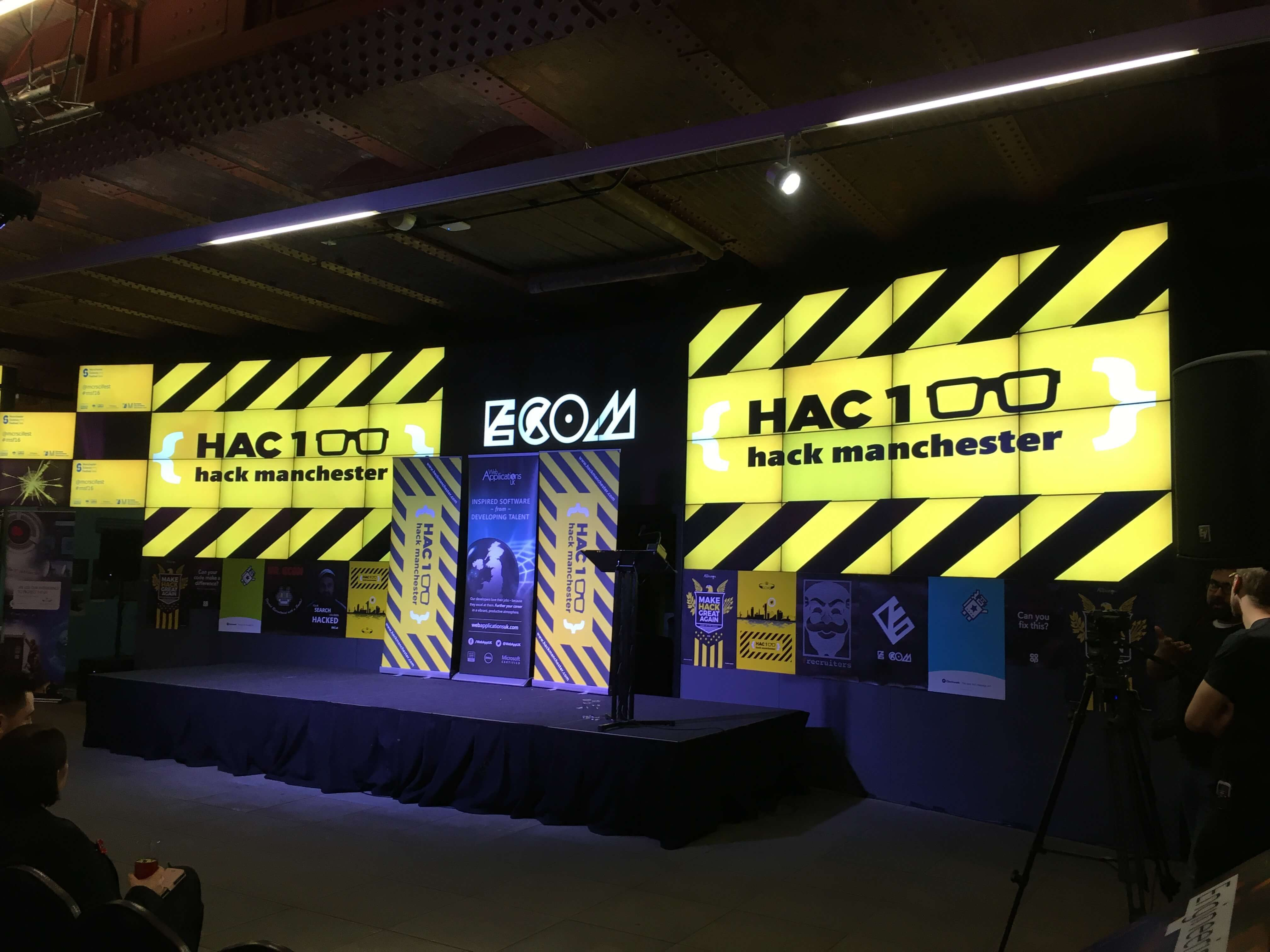 HackManchester stage