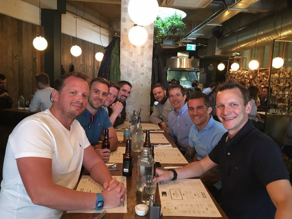 InterQuest Group's Tunbridge Wells colleagues having lunch together at a restaurant