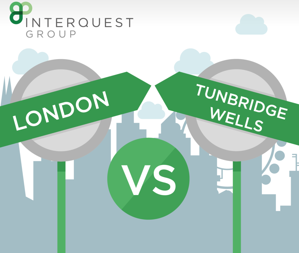 Infographic thumbnail: London Vs Tunbridge Wells