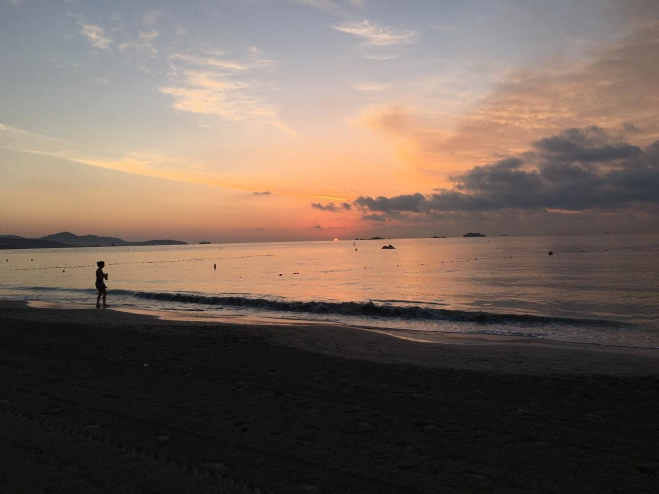 Ibiza beach sunset