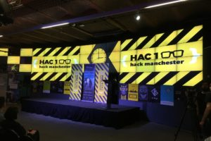 Hack Manchester event stage