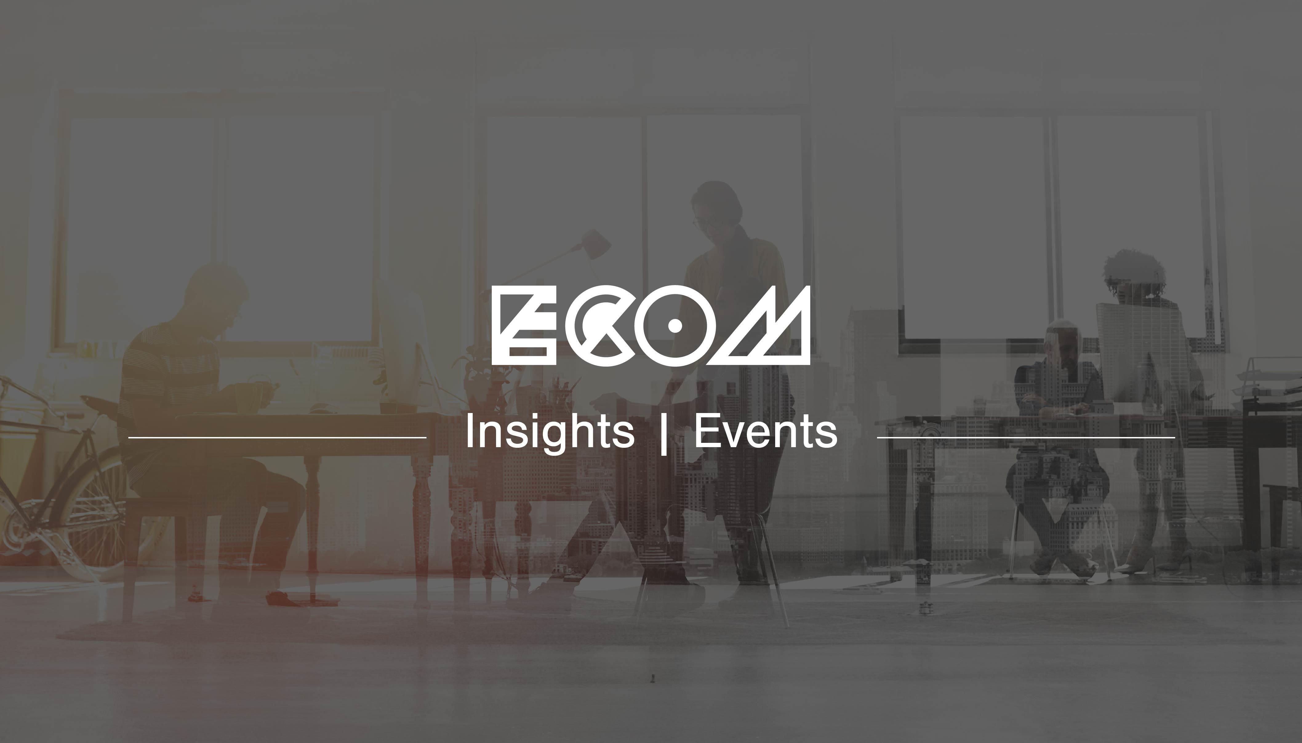 ECOM branded header banner for a blog about an IR35 Workshop event